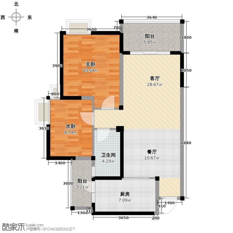 中铁丽景书香89.00㎡一期电梯E3户型3室2厅1卫