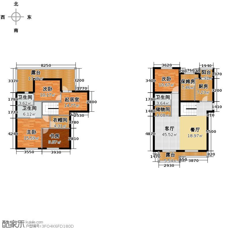 中兴和园189.94㎡4#2单元-01-F6户型4室1厅3卫1厨