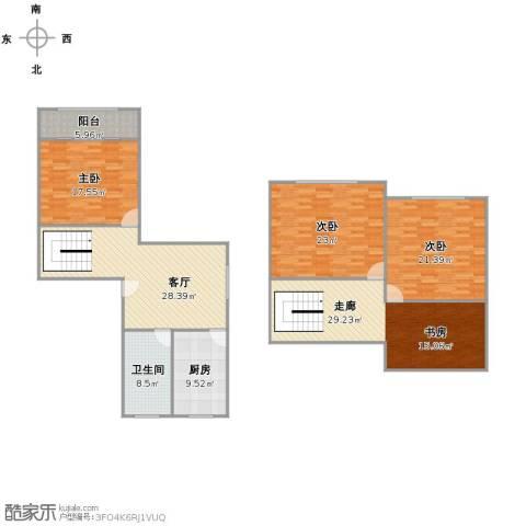 桃浦五村3室1厅1卫1厨190.00㎡户型图