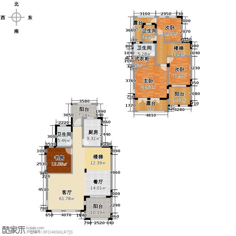 棕榈湖国际社区158.00㎡D户型10室