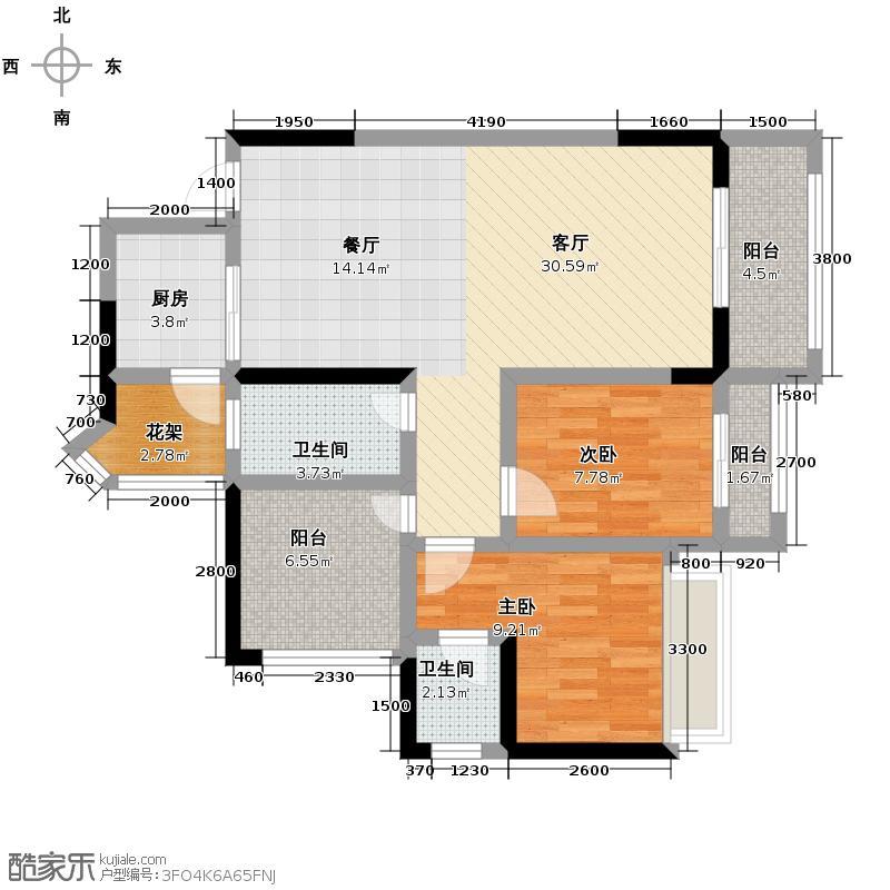天昌东盟中央城51.59㎡A1栋02/05/08/09/10/11户型2室1厅1卫