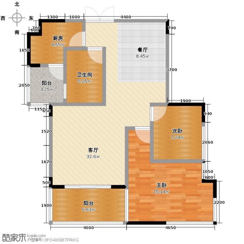 温哥华花园别墅83.30㎡D-b型单卫户型10室