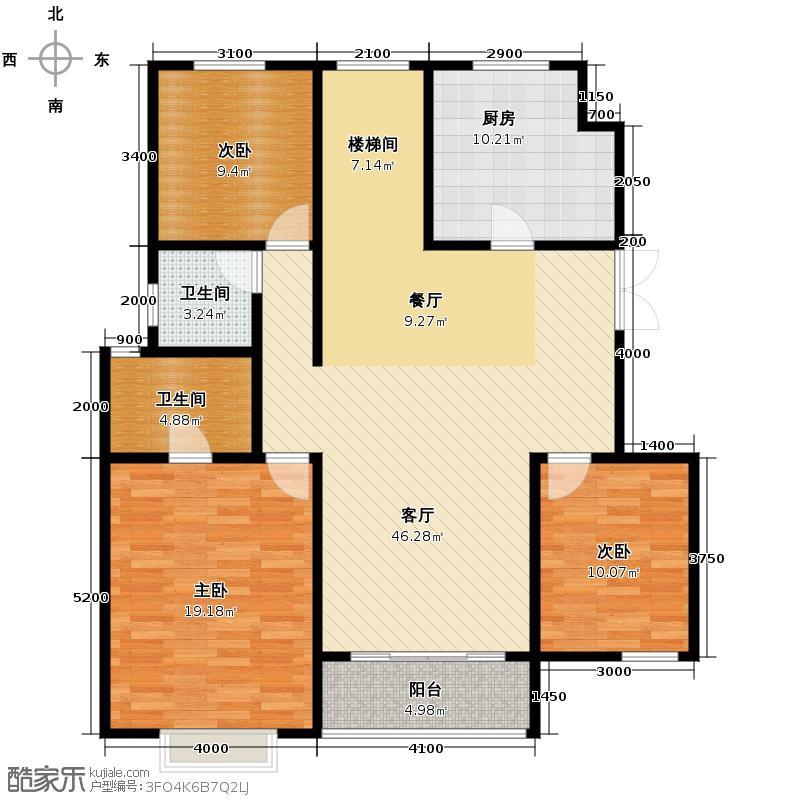吉宝季景兰庭119.48㎡户型10室