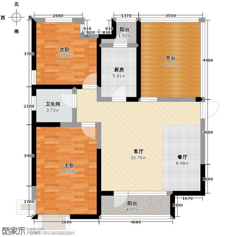 童年河114.00㎡C1户型2室2厅1卫