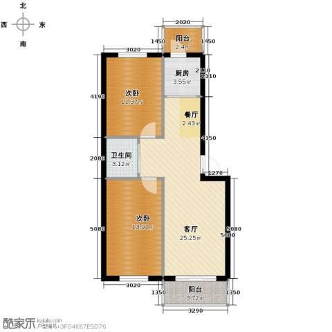 金色佳圆2室2厅1卫0厨82.00㎡户型图