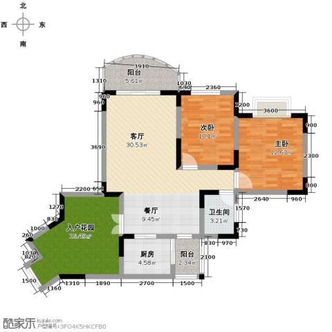 天骄年华2室1厅1卫1厨84.50㎡户型图