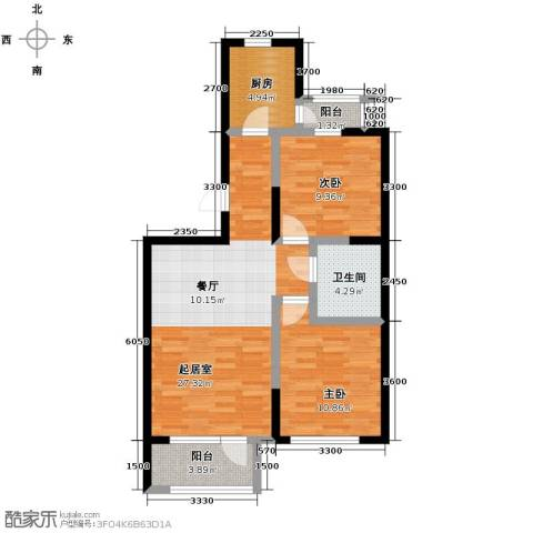 泽天下2室2厅1卫0厨91.00㎡户型图