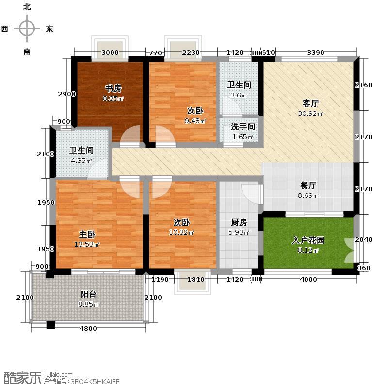 新兴北京御园120.50㎡户型10室