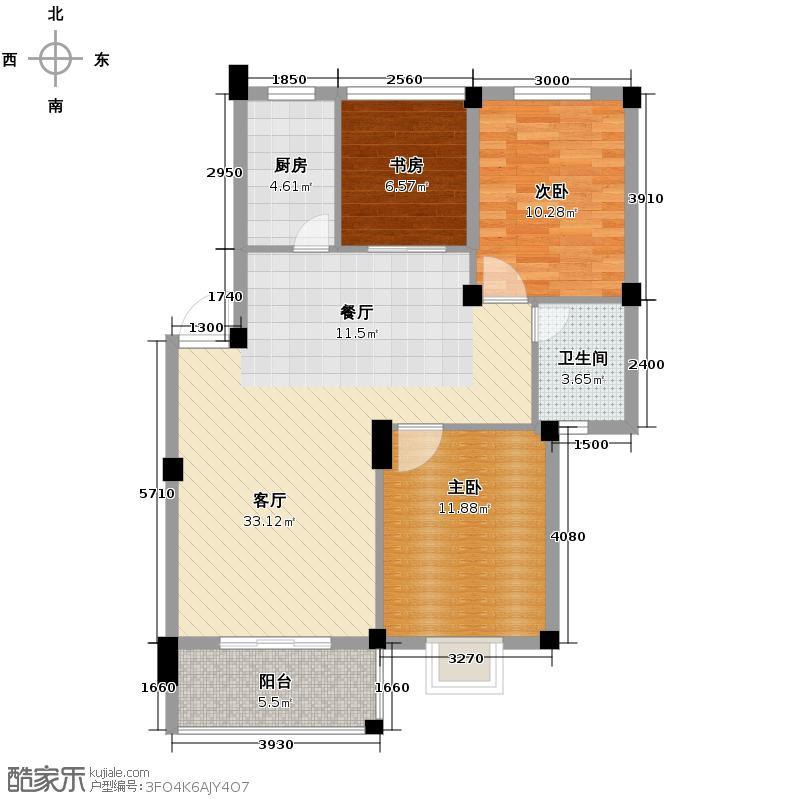 宜鑫盛世名城89.86㎡D户型10室