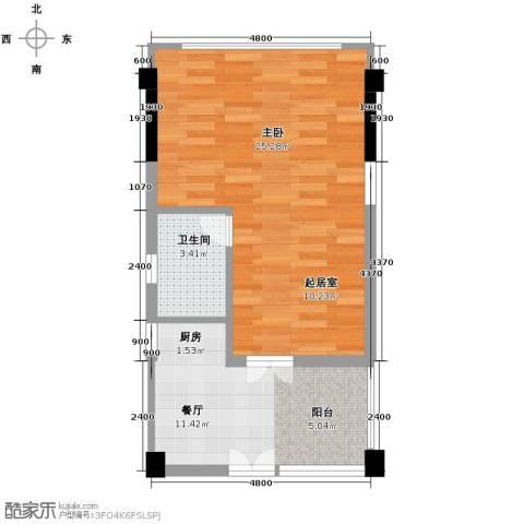 书香门第上河坊1室1厅1卫0厨56.00㎡户型图