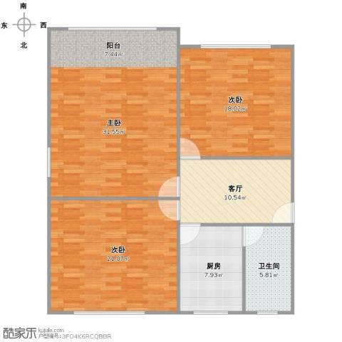 玉兰路46弄小区3室1厅1卫1厨126.00㎡户型图
