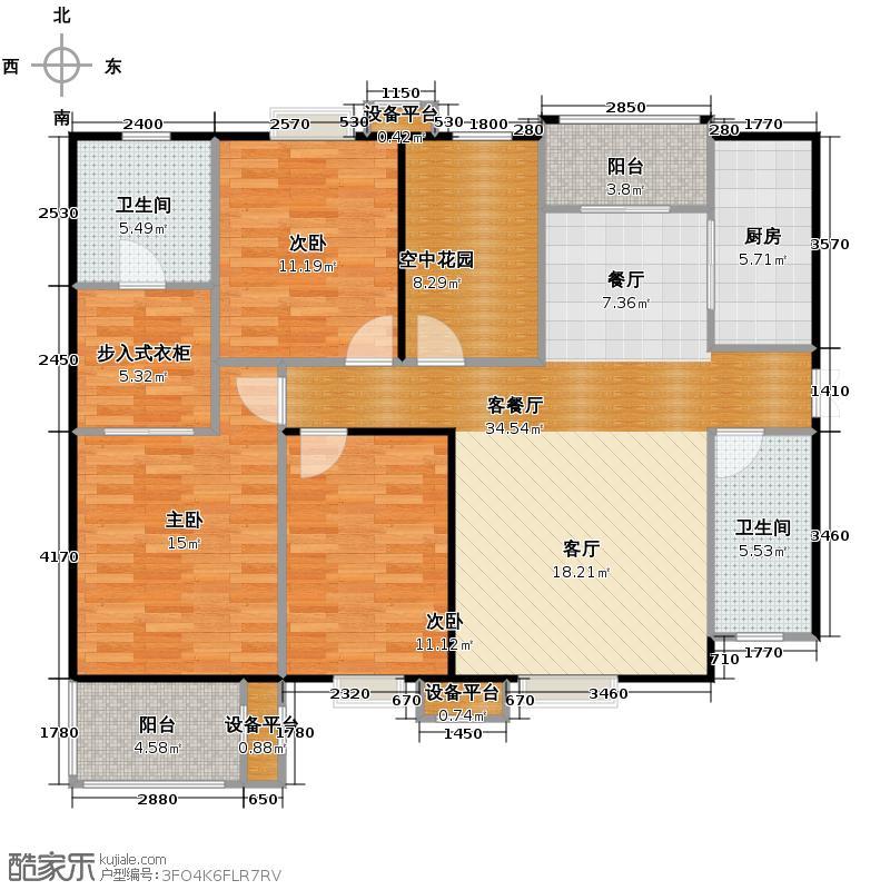 普华浅水湾142.00㎡G+空中花园户型10室