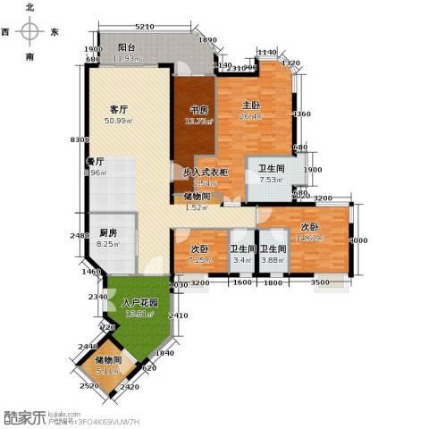 珊瑚水岸4室2厅3卫0厨170.00㎡户型图