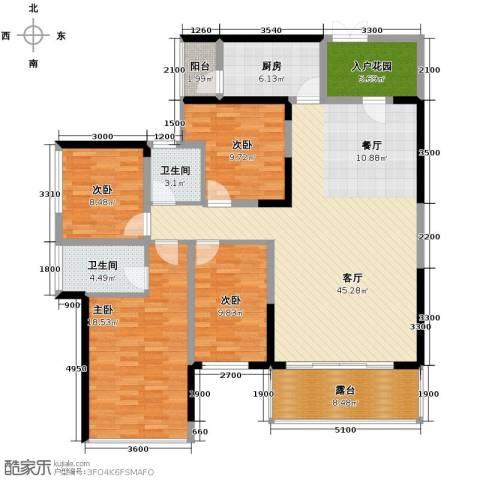 美佳华首誉4室2厅2卫0厨143.00㎡户型图
