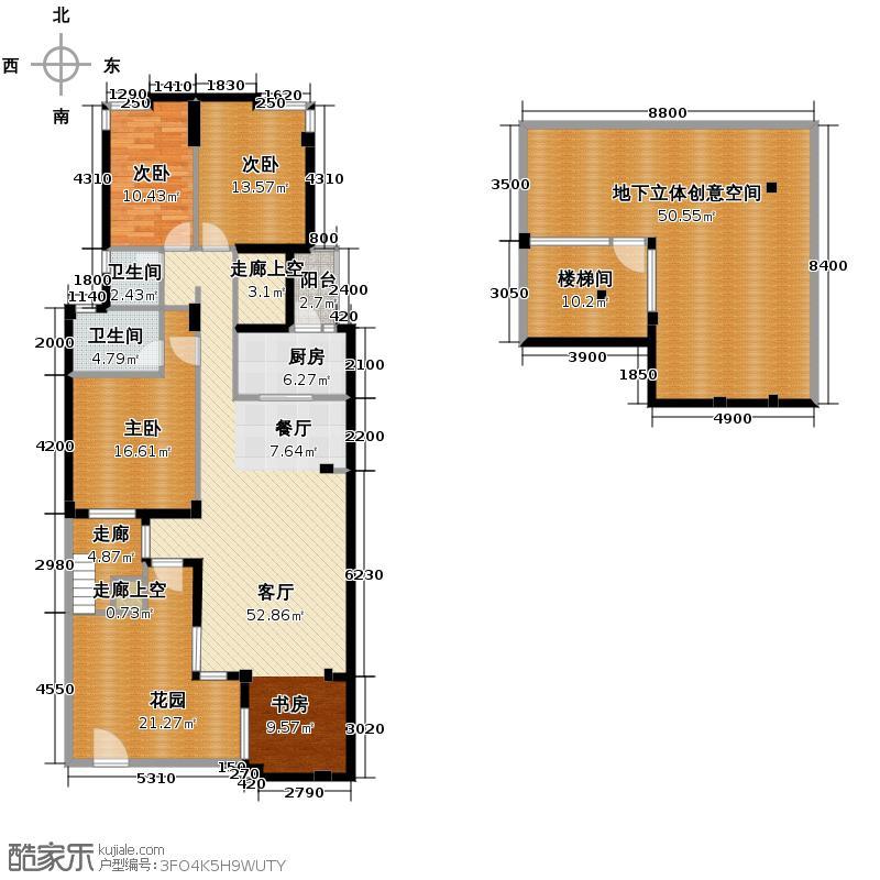 当代国际花园十五区高层224.40㎡户型10室