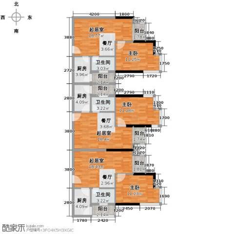 梦泽园美美公馆1室1厅1卫0厨122.62㎡户型图