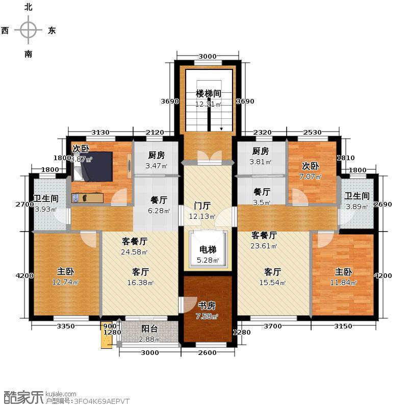 亚联翡翠春城157.03㎡户型10室