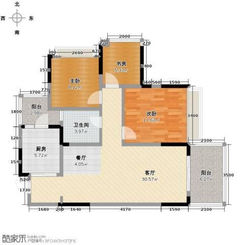 万科悦峰3室1厅1卫1厨89.00㎡户型图