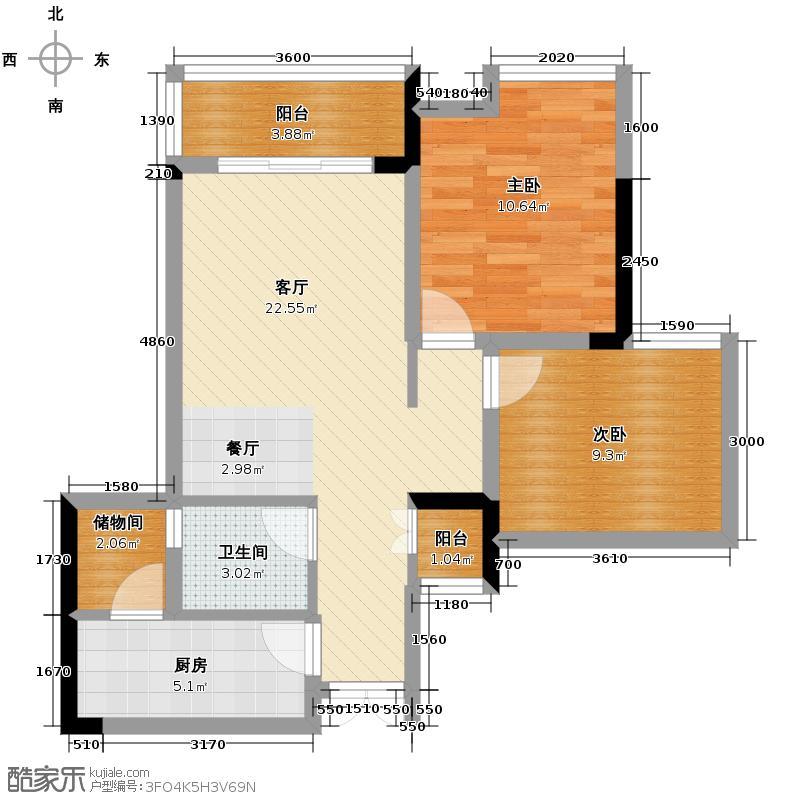 东方剑桥67.58㎡B1、5、6、9号房户型10室