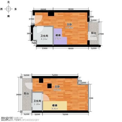曲江澜山2室0厅2卫0厨67.00㎡户型图