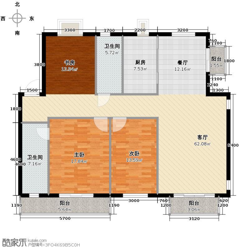 第五郡148.82㎡14882―户型2室1厅2卫1厨