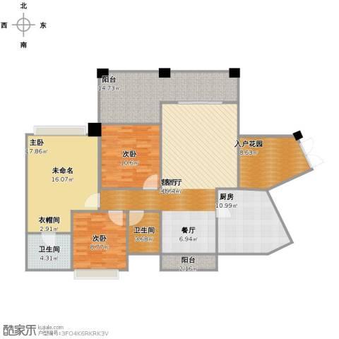 爱加西西里3室1厅2卫1厨154.00㎡户型图