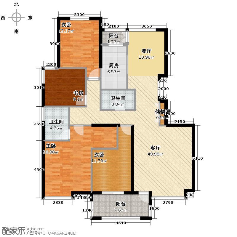 香格里172.00㎡3#户型4室2厅2卫