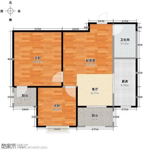 盛世家园2室2厅1卫0厨82.00㎡户型图