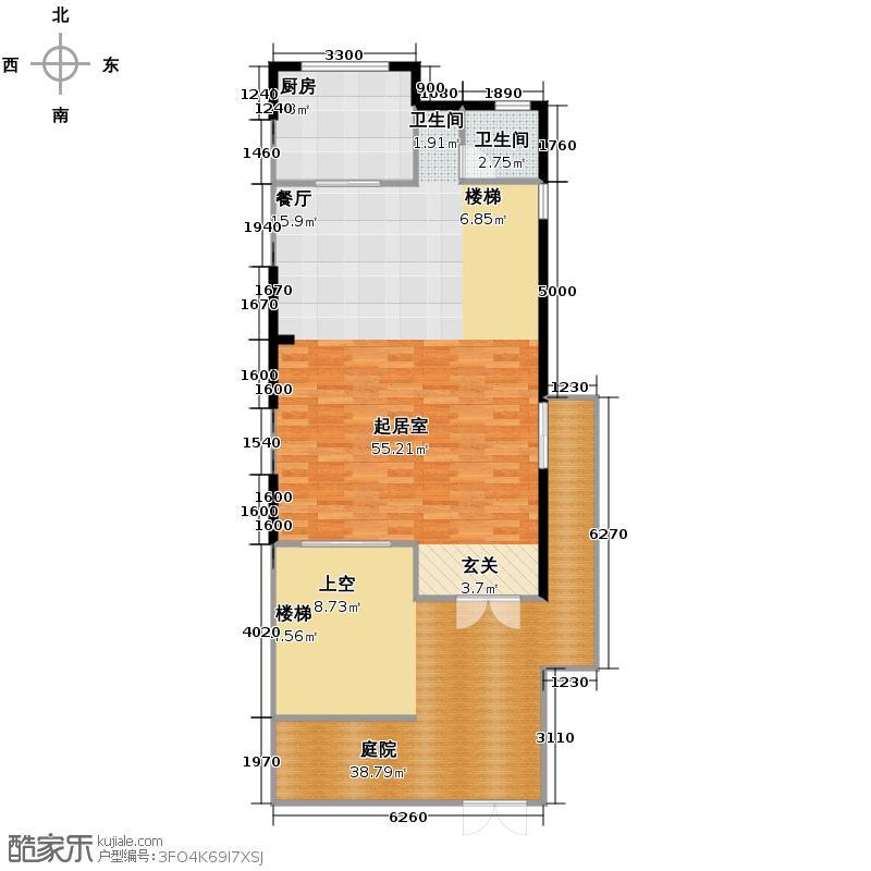 北京湾111.76㎡A5首层户型10室
