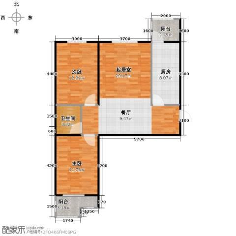 盛世家园2室2厅1卫0厨80.00㎡户型图