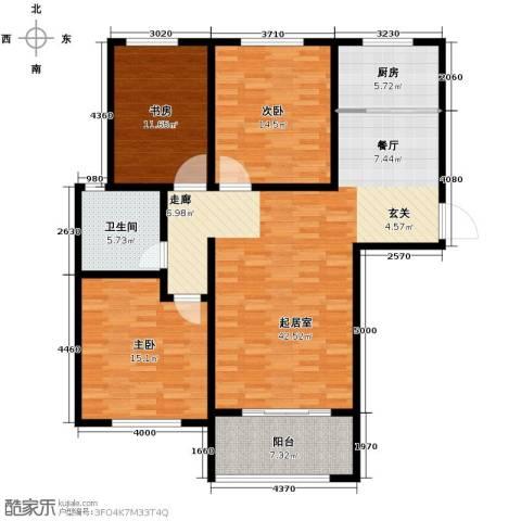 中国铁建・明山秀水3室2厅1卫0厨116.00㎡户型图
