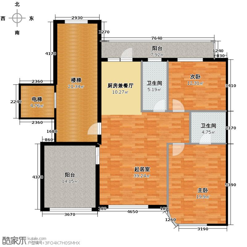 学城名筑142.21㎡户型10室