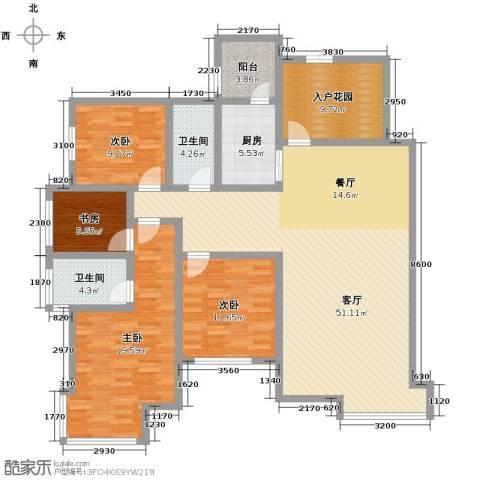 中建康城4室1厅2卫1厨179.00㎡户型图