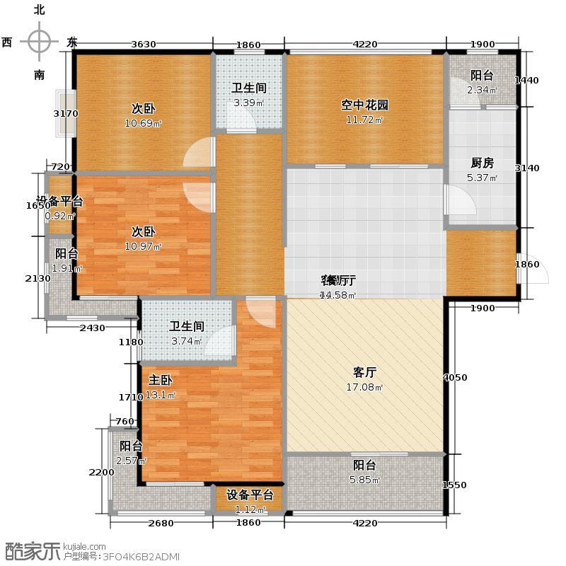 曲江诸子阶124.78㎡2号楼C1户型10室