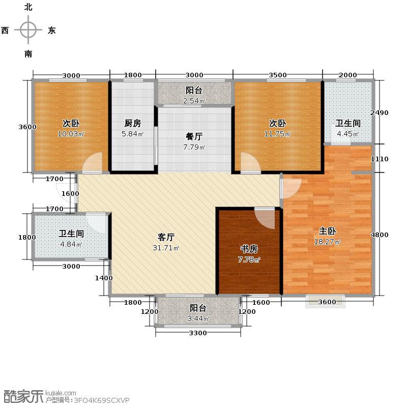 香缤国际城108.72㎡户型10室
