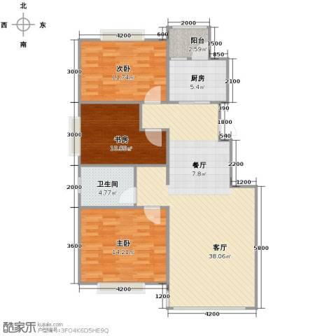 天安第一城3室2厅1卫0厨93.08㎡户型图