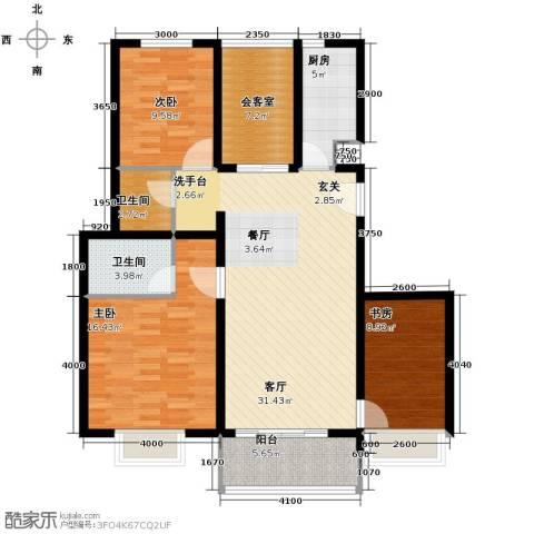 金隅花石匠3室2厅2卫0厨110.00㎡户型图