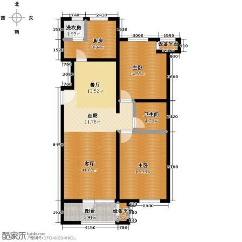 龙湖・香醍溪岸洋房136.00㎡户型图