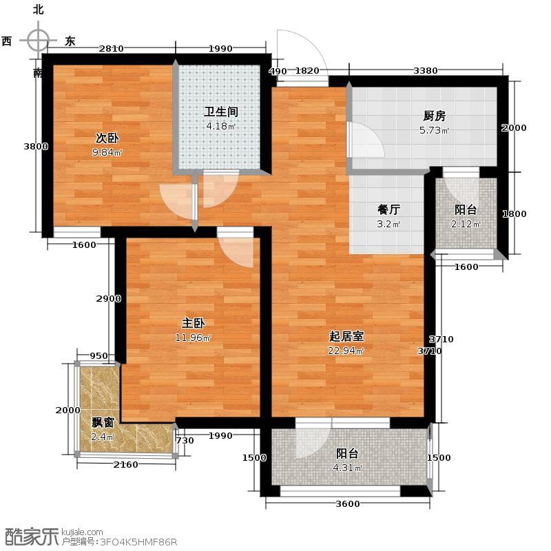 峰尚花园72.98㎡户型10室