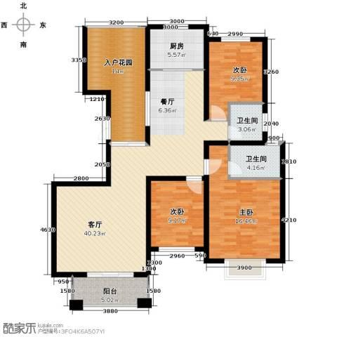 金桥普林斯顿3室2厅2卫0厨132.00㎡户型图