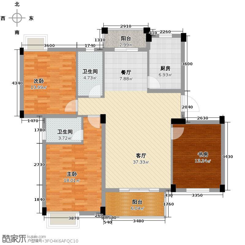 大华南湖公园世家119.86㎡售完户型10室