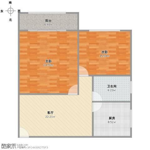 殷行路310弄小区2室1厅1卫1厨111.00㎡户型图