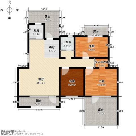 首创玲珑墅3室1厅1卫1厨104.06㎡户型图