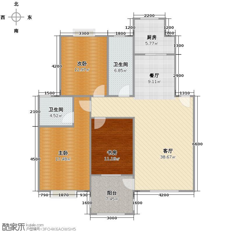 天鹅湖123.94㎡B1户型10室