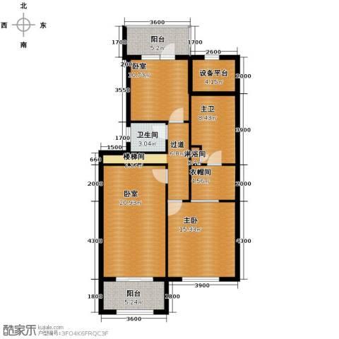 廊坊孔雀城4室3厅3卫0厨172.00㎡户型图