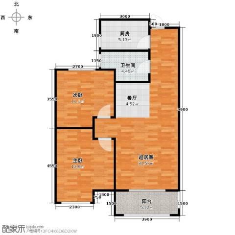 紫御府2室2厅1卫0厨89.00㎡户型图