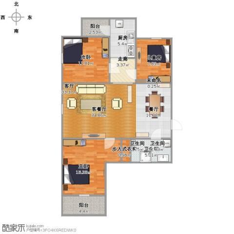 太铁佳苑3室1厅1卫1厨122.00㎡户型图