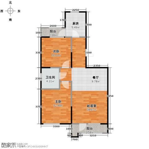 泽天下1室1厅1卫0厨90.00㎡户型图