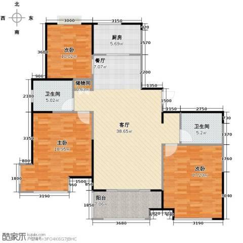 桂竹香公寓145.00㎡户型图