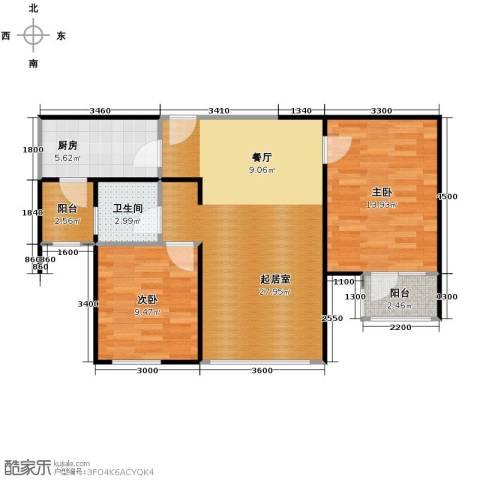 滨海欣嘉园2室1厅1卫0厨82.00㎡户型图